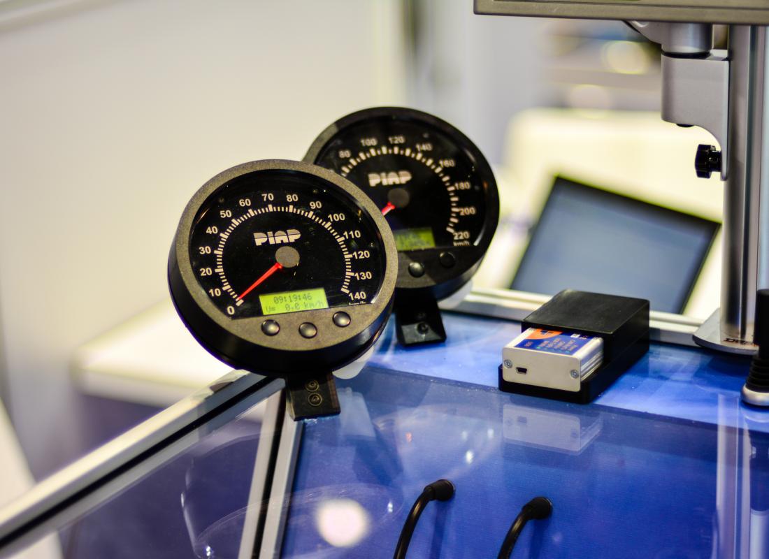 Logometryczne wskaźniki prędkości (fot. PIAP)