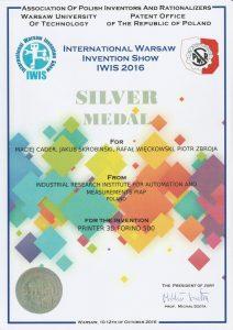2016 Złoty Medal International Warsaw Invention Show