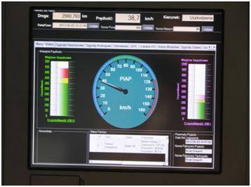 Przykładowy pulpit zrealizowany w oparciu o panelowy komputer przemysłowy (fot. PIAP)