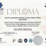 2016 Srebrny Medal EUROINVENT ROBWELD