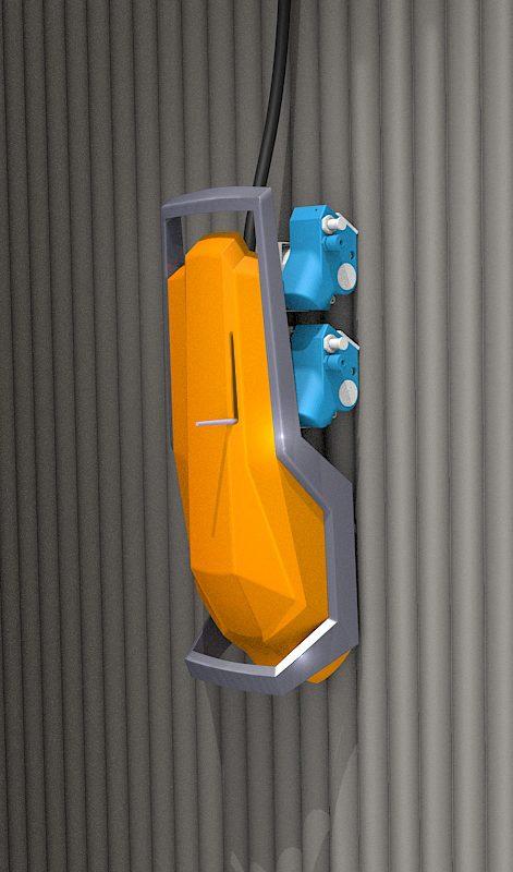 Mobilny robot do diagnostyki ścian stalowych w obiektach przemysłowych