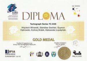 2016 Złoty Medal EUROINVEN Tachograf TC-XXX