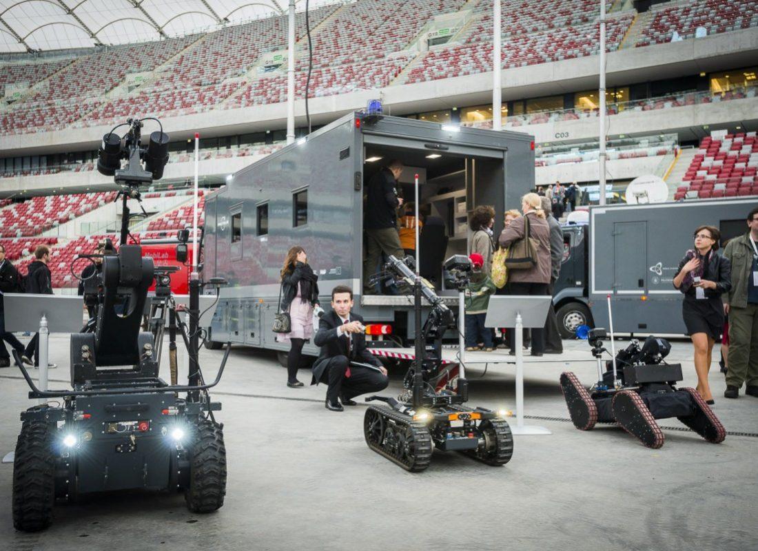 System Proteus pokaz na Stadionie Narodowym w Warszawie (fot. PIAP)
