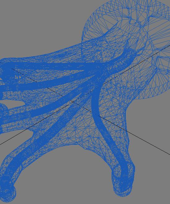 Geometria 3D chwytaka podciśnieniowego w kształcie ludzkiej dłoni