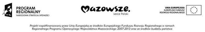 logotypy Regionalny Program Operacyjny Województwa Mazowieckiego