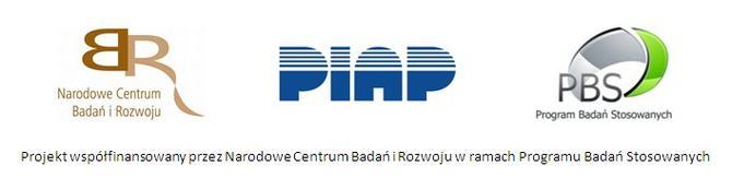 Logotypy Narodowego Centrum Badań i Rozwoju, Instytutu PIAP oraz Programu Badań Stosowanych