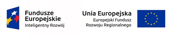 Logotyp Fundusze Europejskie Inteligentny Rozwój, Unia Europejska Europejski Fundusz Rozwoju Regionalnego