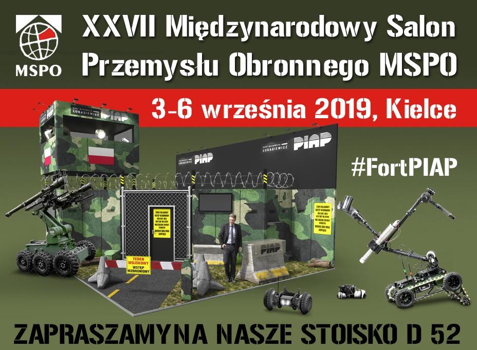 Stoisko Łukasiewicz - Instytut PIAP na MSPO 2019