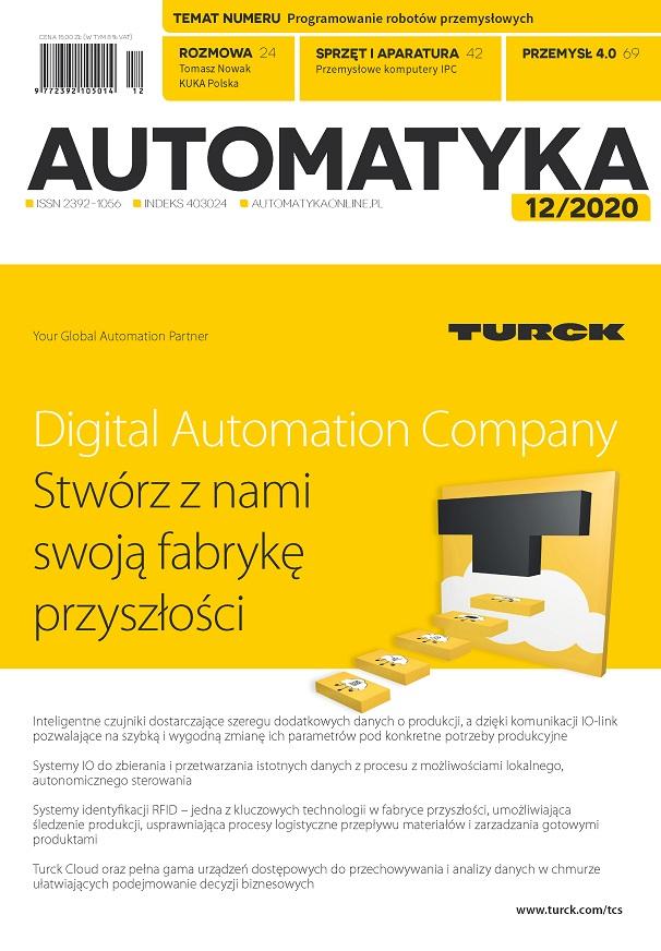 okładka miesięcznika Automatyka numer 12.2020