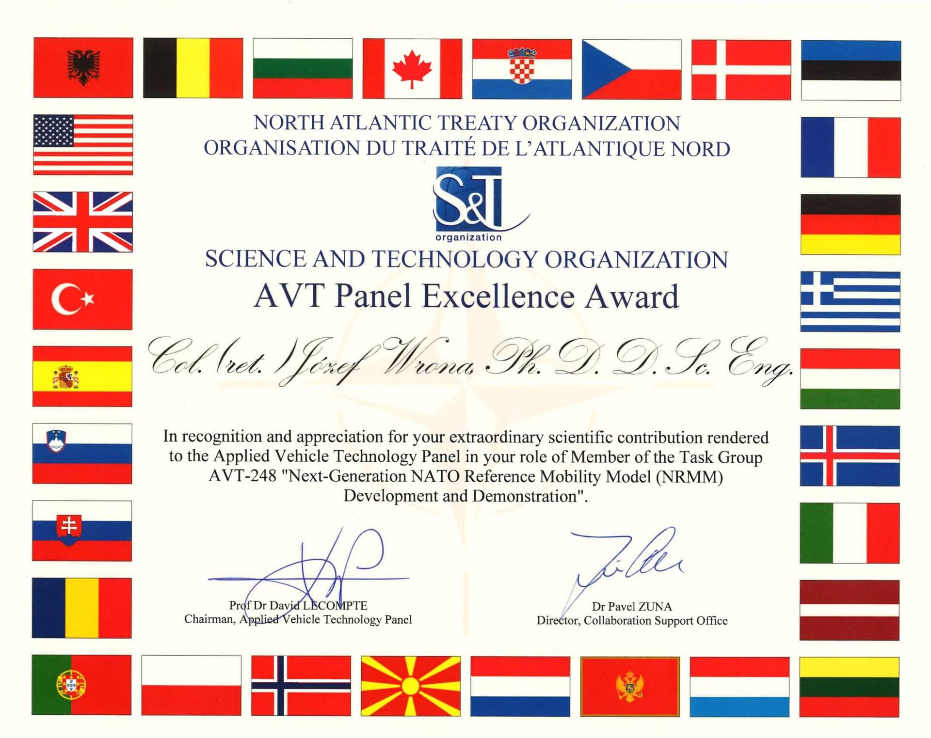 Józef Wrona z Łukasiewicz – PIAP w zespole nagrodzonym przez NATO